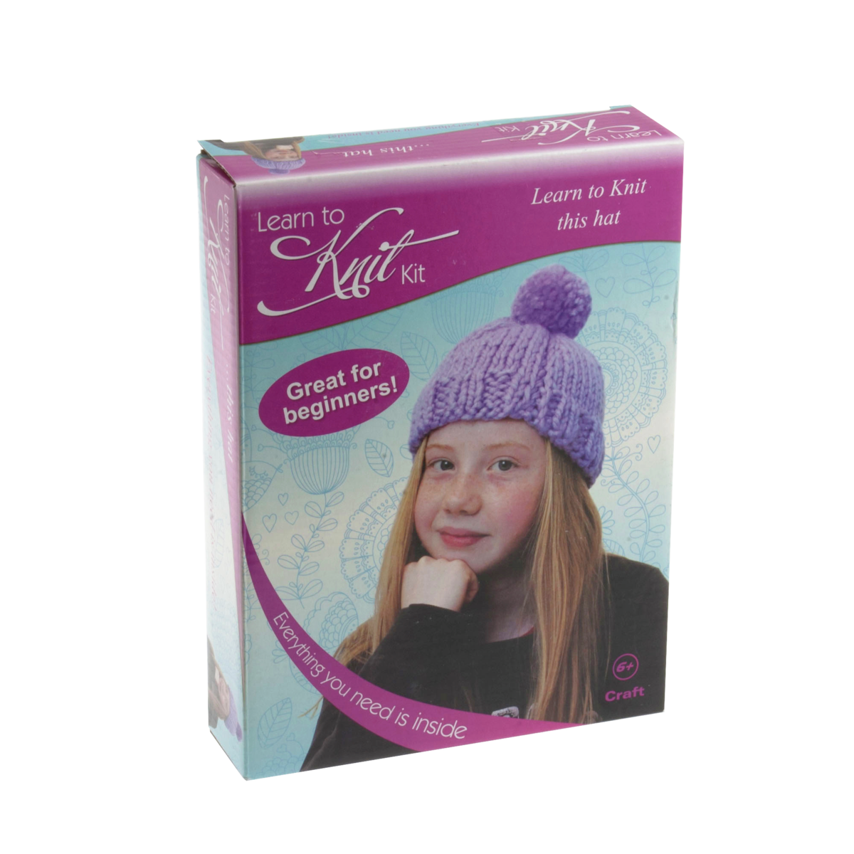 Knitting Kits For Beginners Uk : Learn to knit kit hat habbydays