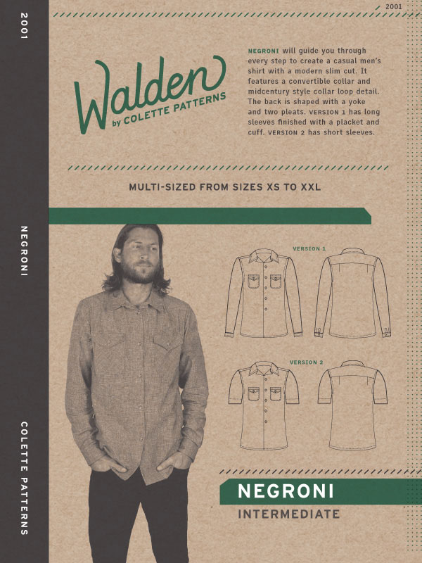 COLP1014 – Negroni Mens Shirt Pattern – Walden by Colette Patterns ...