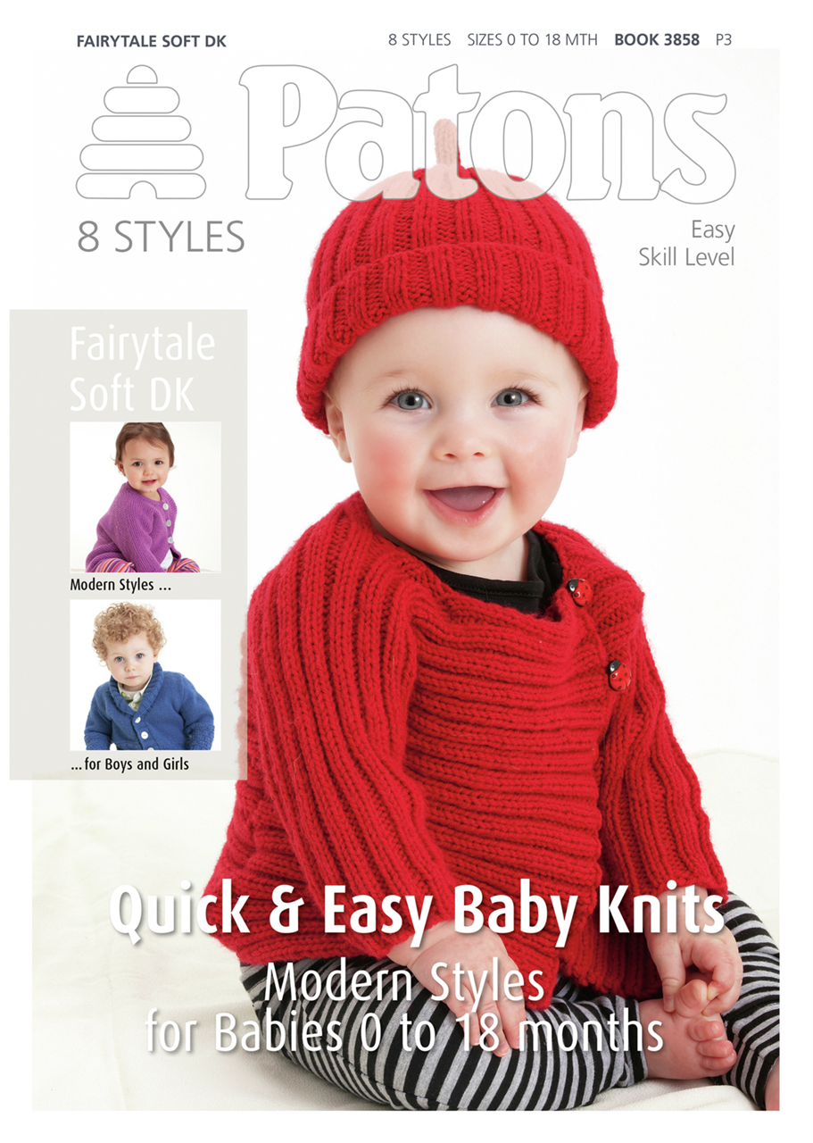 Patons Pattern Book Fairytale Soft Dk Modern Baby Habbydays
