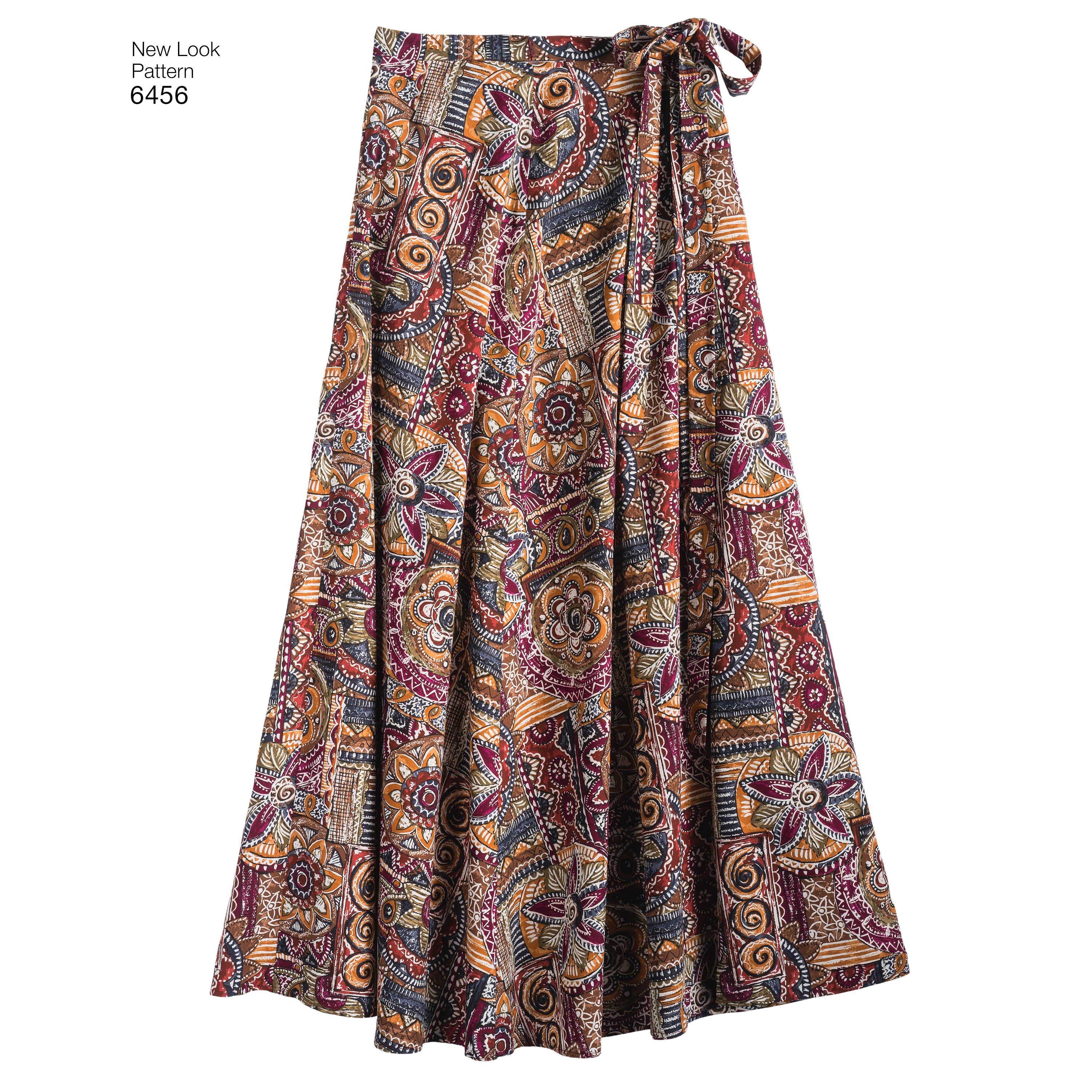 Misses' Easy Wrap Skirts in Four Lengths: 6456