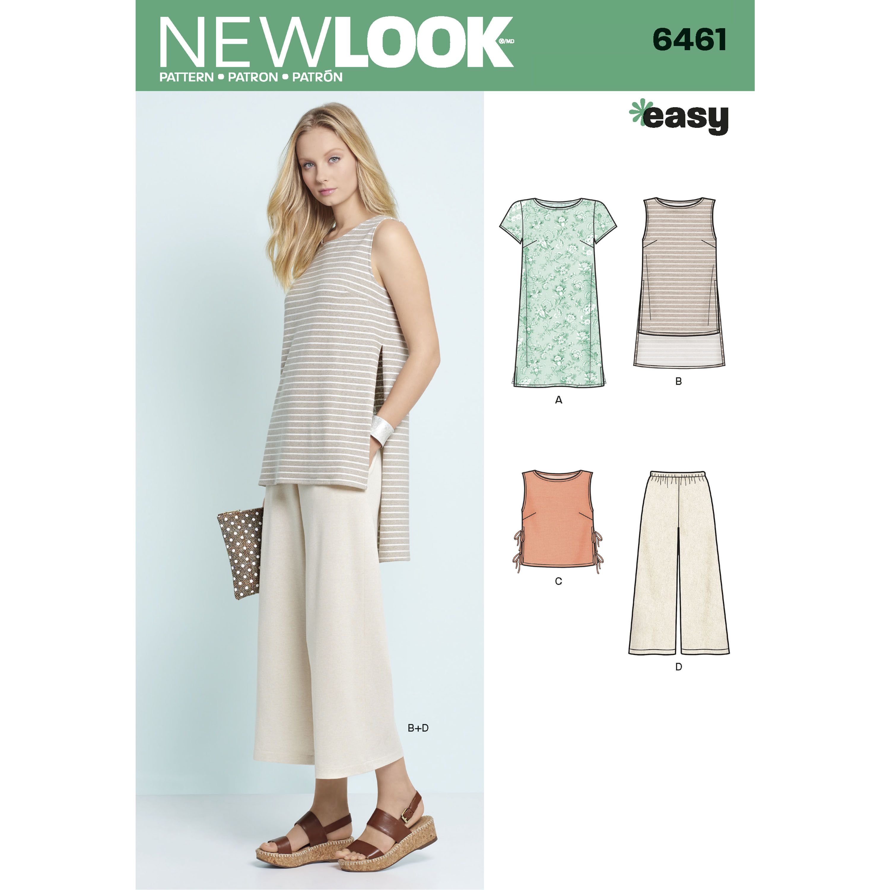 Misses' Dress, Tunic, Top and Cropped Pants: 6461